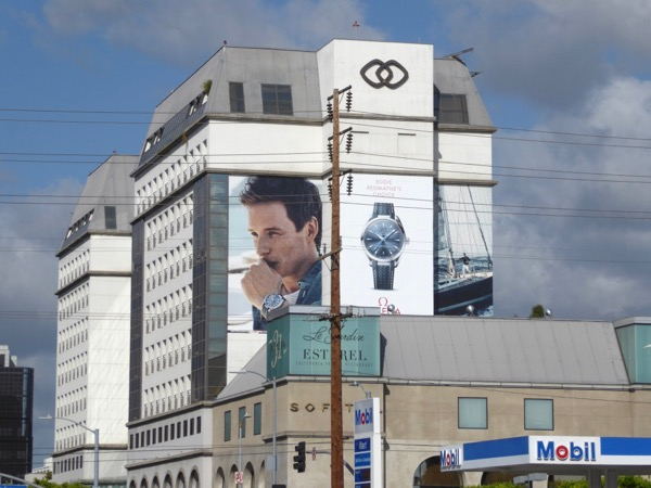 Giant Eddie Redmayne Omega Watch billboard