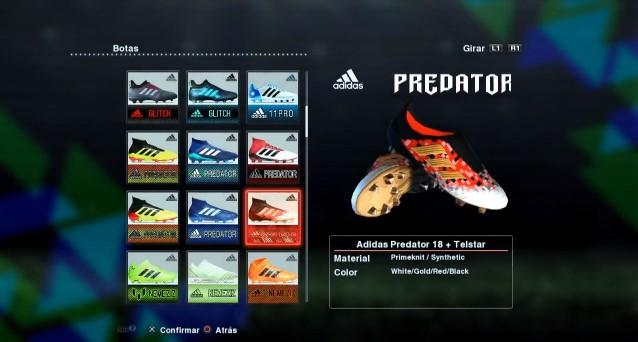 New Adidas Predator 18+ 2017-2018 PES 2013