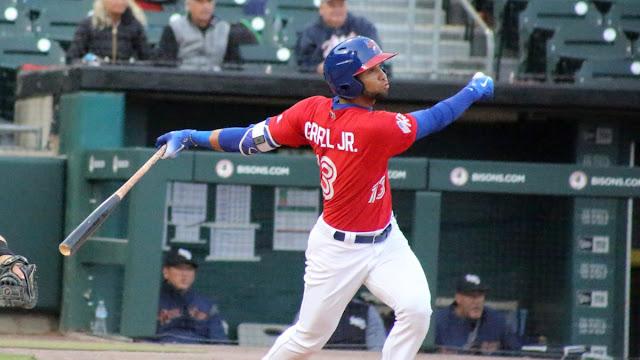 El prospecto cubano fue bajado a las menores el 13 de mayo, después de debutar en Grandes Ligas con los Azulejos de Toronto.