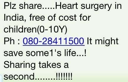 PREMADHARA: free heart surgery