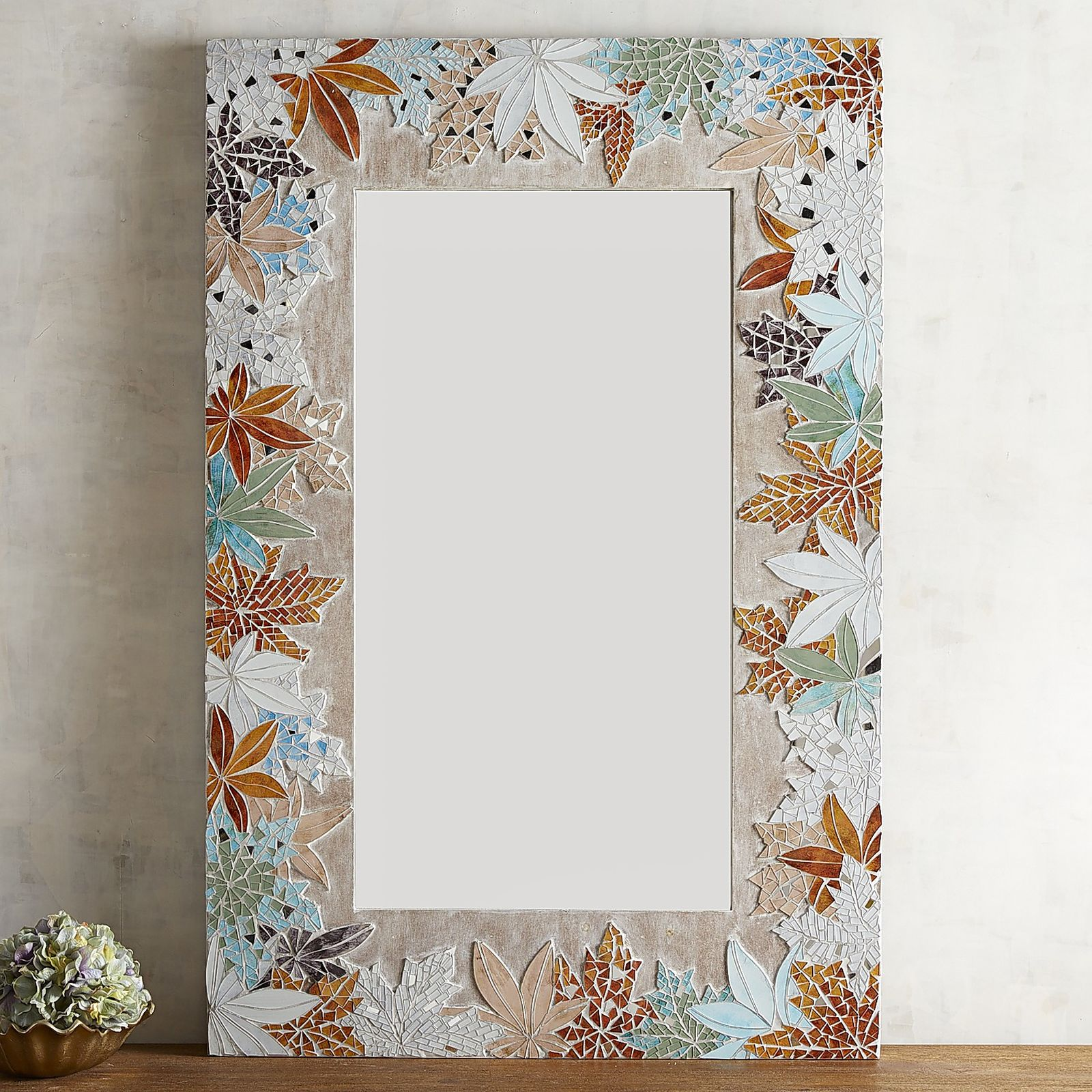 Aesthetic oiseau catalog pick floral mosaic mirrors from for Mosaic mirror