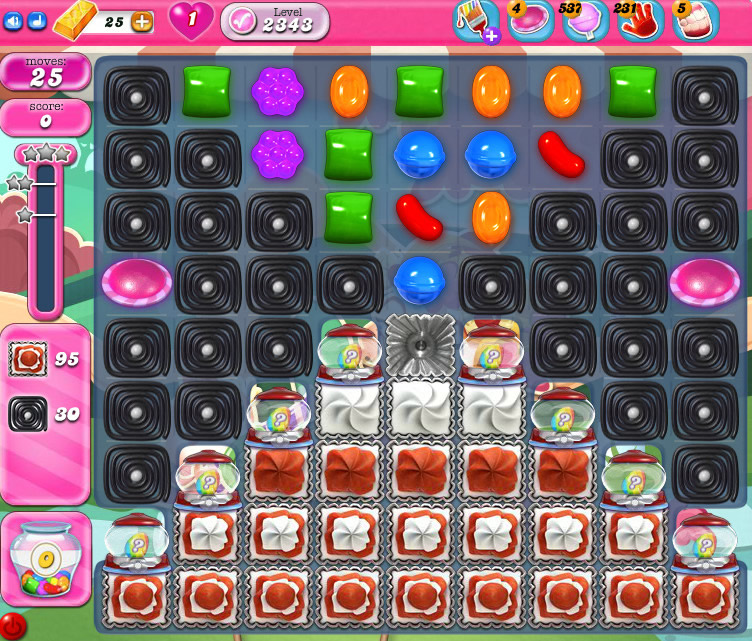 Candy Crush Saga level 2343