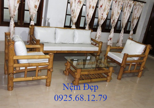 bọc nệm ghế sofa gỗ 01