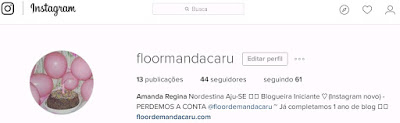 instagram do blog @floormandacaru