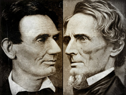 Abraham Lincoln and Jefferson Davis lookalike Similarities looks like Twin Brothers Related or Same Person Conspiracy