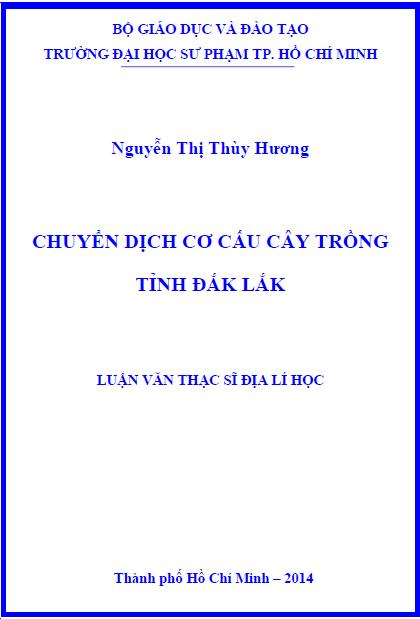 Chuyển dịch cơ cấu cây trồng tỉnh Đắk Lắk