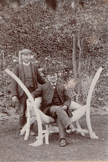Edward Wollocott (seated) in grounds of Faleide