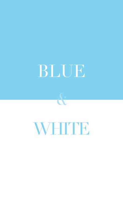 blue & white .