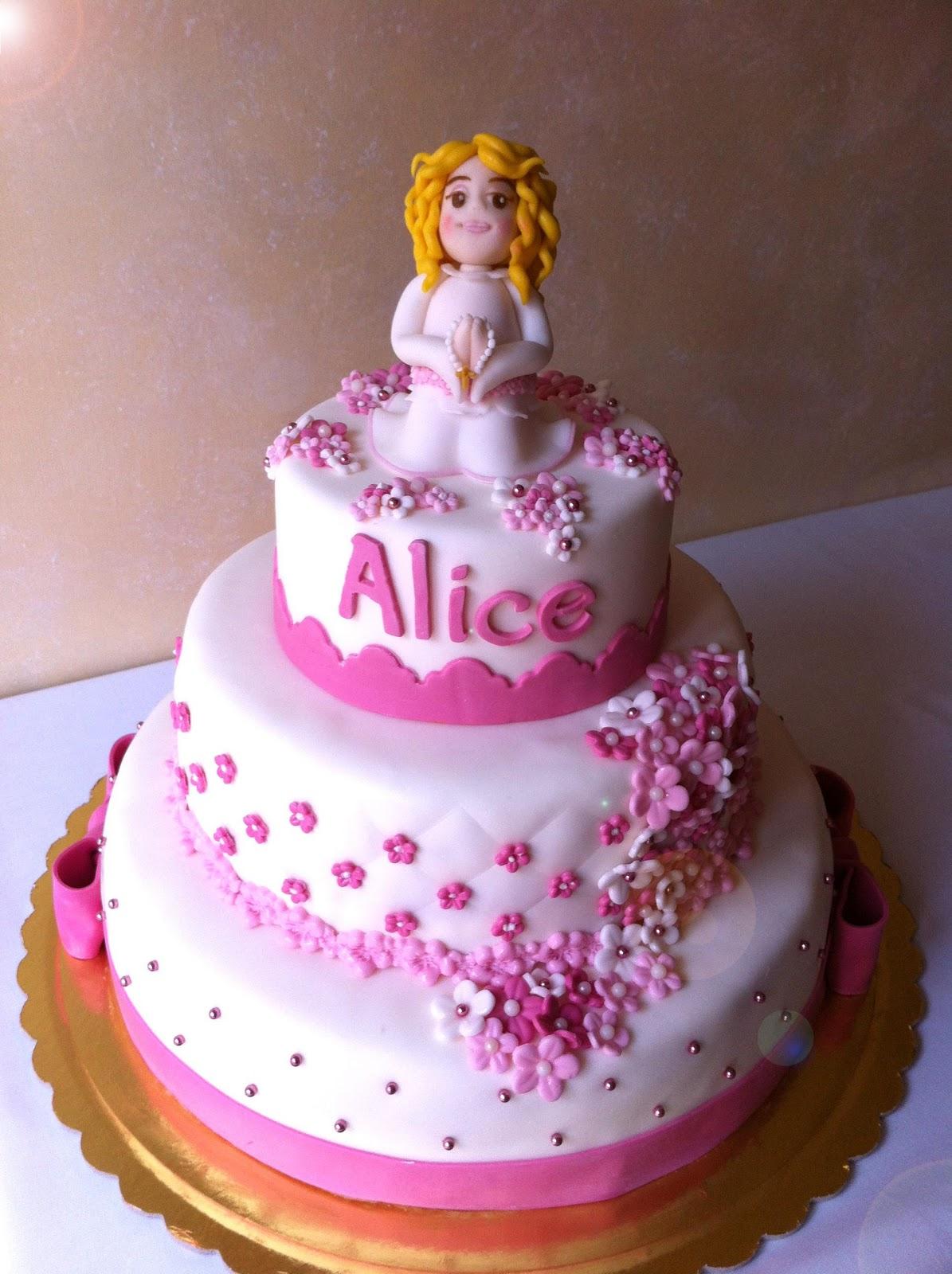 Ben noto Alessandra e i suoi dolci: Torta Prima Comunione WL26