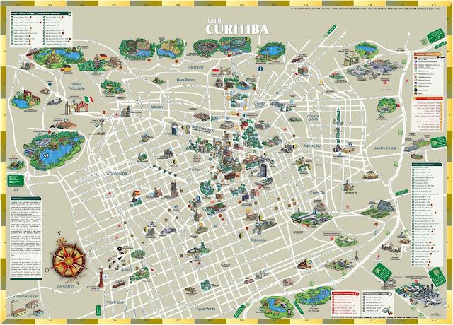 Mapa turístico de Curitiba