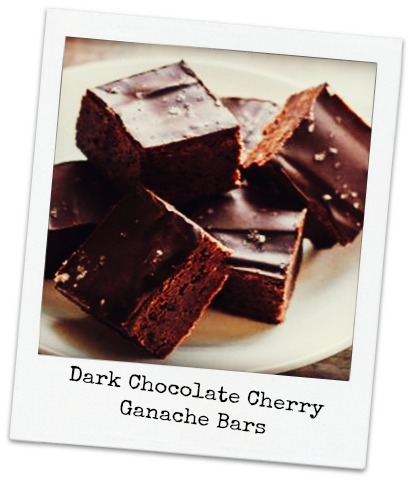 ... Chocolate: Dark Chocolate Cherry Ganache Bars: National Dark Chocolate