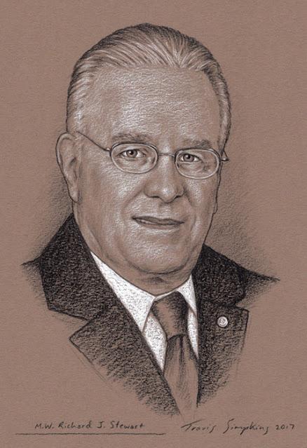 Richard J. Stewart. Past Grand Master. Grand Lodge of Massachusetts. by Travis Simpkins