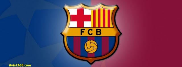 Ảnh bìa Facebook bóng đá - Cover FB Football timeline, FCB logo