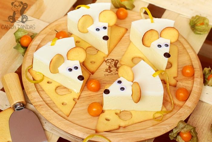 Proteinowe myszki cytrynowe na serowych ciasteczkach (bez glutenu, cukru białego)