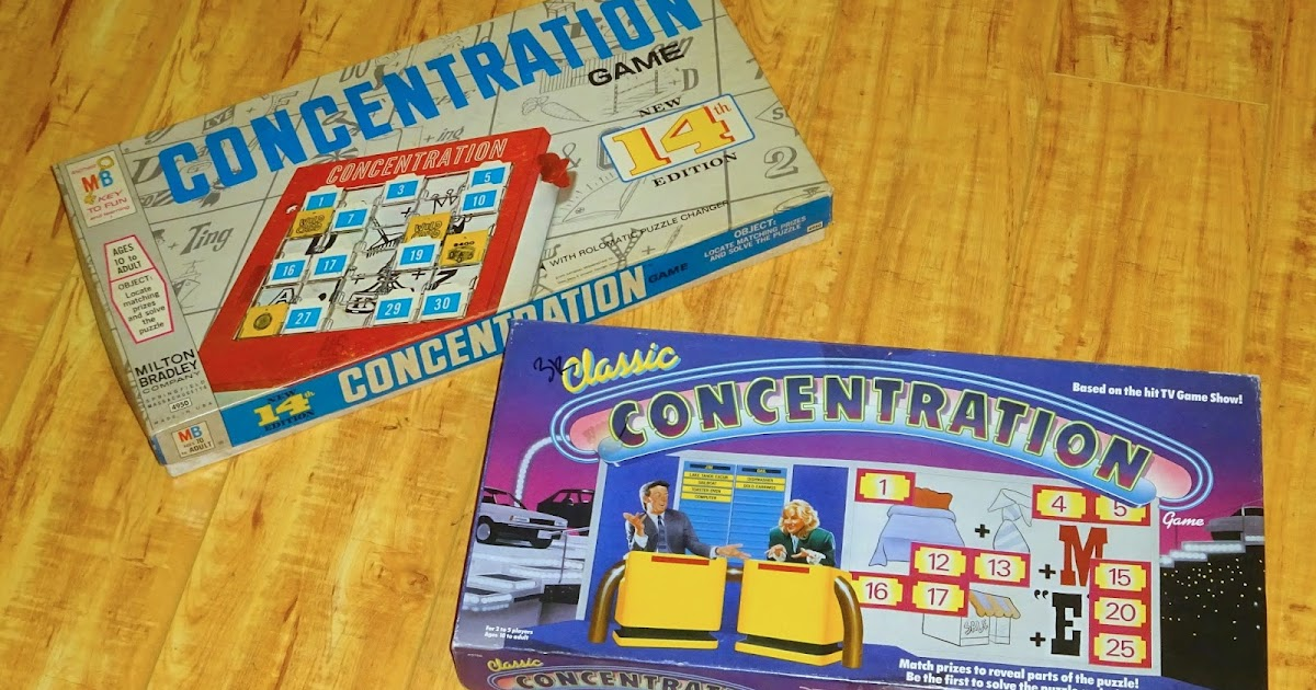 Game Show Board Games Concentration 14th Edition 1970