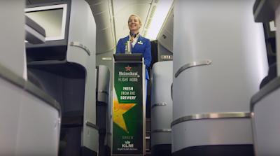 Heineken nas alturas: aviação holandesa oferece chopp em voos