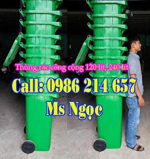 thung rac nhua 120 lit
