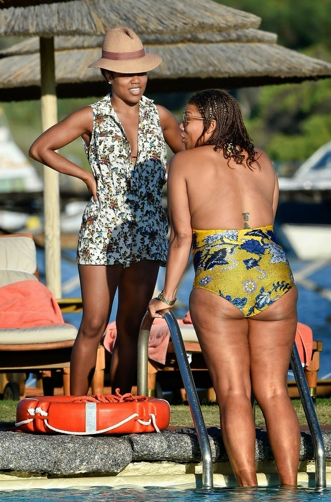 Queen Latifah Amp Her Lesbian Partner Pictured Kissing During Vacation In Italy