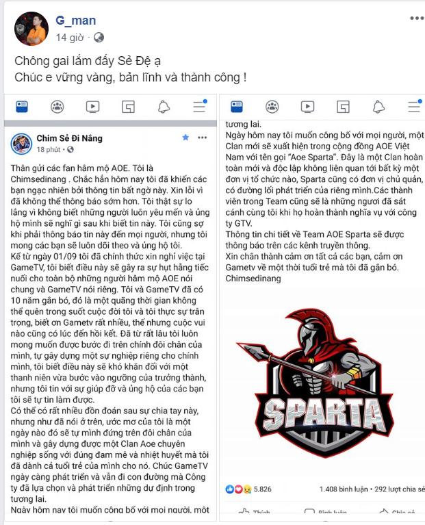 [AoE] Các game thủ và cộng đồng AoE Việt nói gì sau khi Chim Sẻ Đi Nắng rời GTV