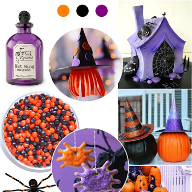 Orange, Purple and Black Halloween Party Ideas
