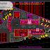 مخطط مشروع اقامة جماعية اوتوكاد dwg