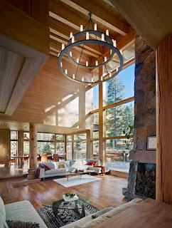 แบบห้องรับแขกเพดานสูง