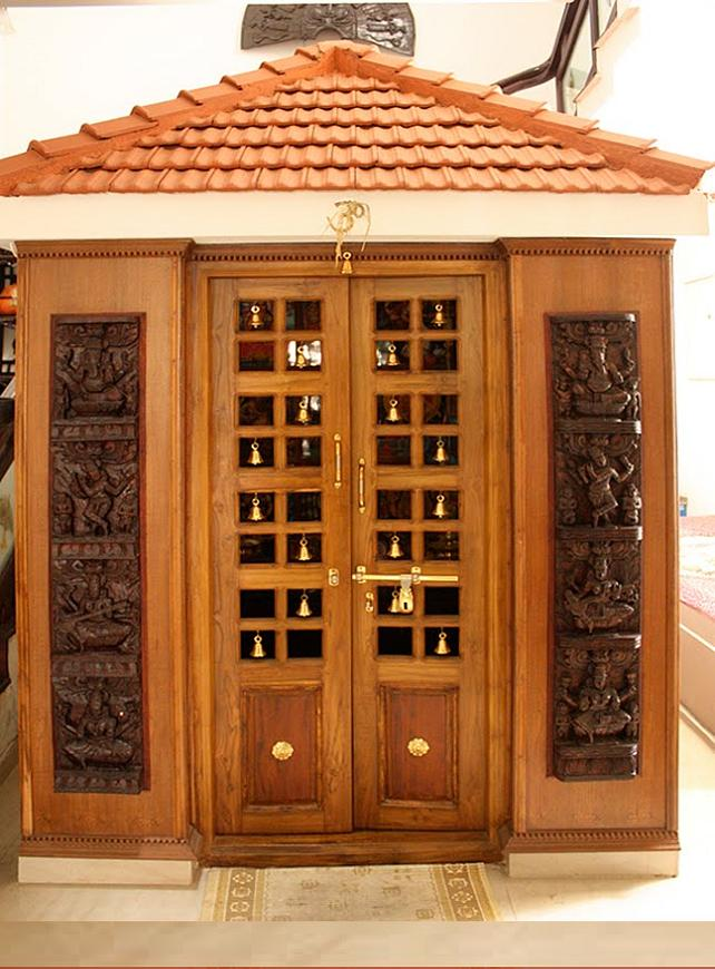 Pooja Room Door Designs Pooja Room: Carpenter Work Ideas And Kerala Style Wooden Decor: Pooja