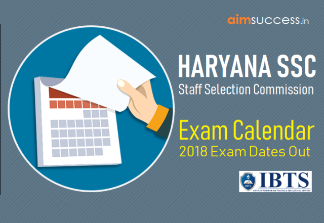 Haryana SSC 2018 Exam Calendar Out  Check Here Now