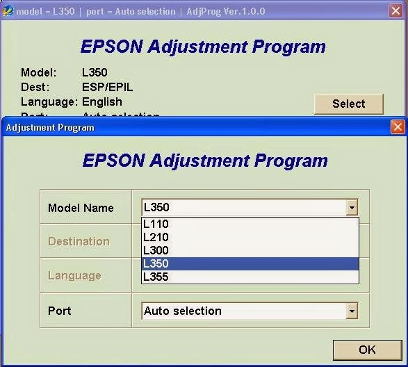 epson l210 waste ink pad resetter key
