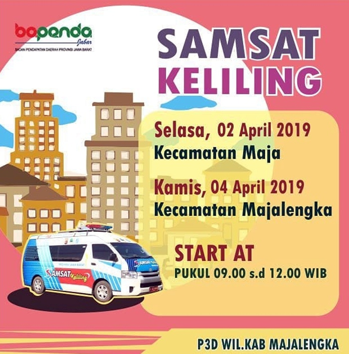 Jadwal SIM Keliling Majalengka April 2019- IGsatlantas_mjlk_