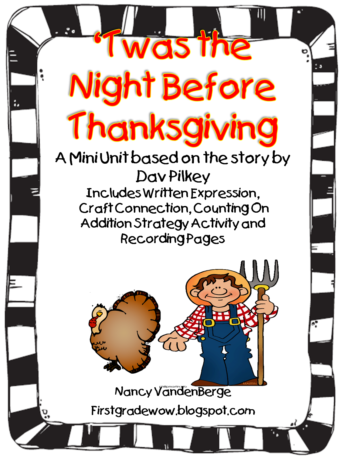 First Grade Wow Twas The Night Before Thanksgiving