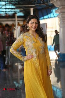 Actress Mehrene Kaur Stills in Yellow Long Dress at Sundeep Kishan New Movie Opening .COM 0157.JPG