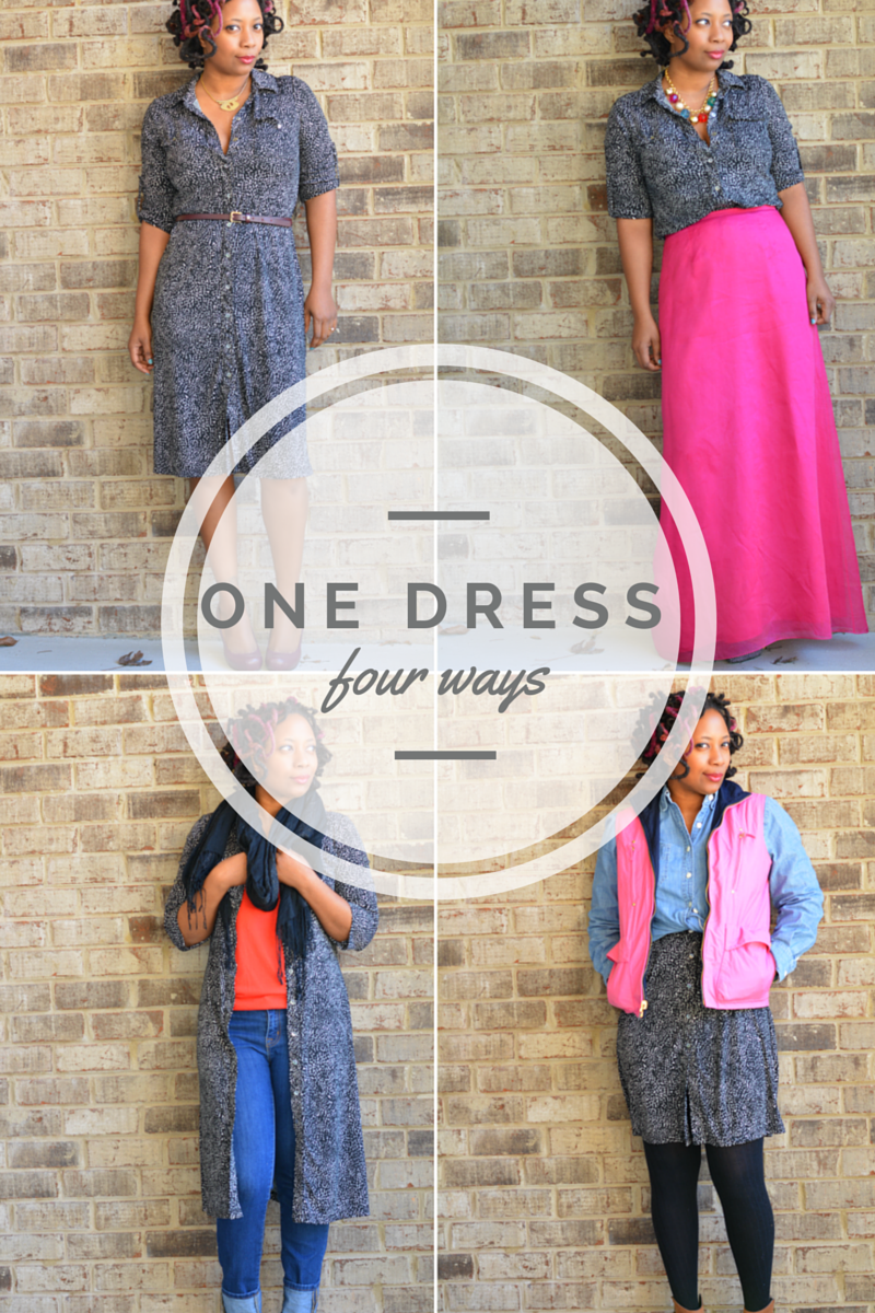 one dress styled four ways