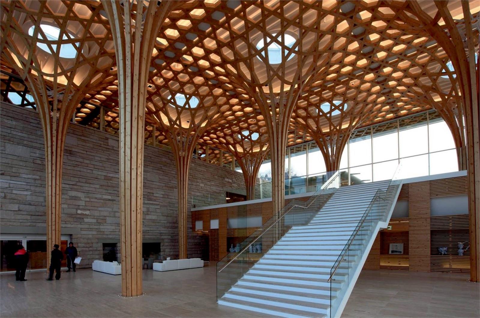 architecture haesley nine bridges golf clubhouse by shigeru ban. Black Bedroom Furniture Sets. Home Design Ideas