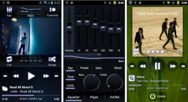 Aplikasi pemutar Musik di android