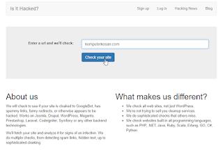 cek website yang di hack