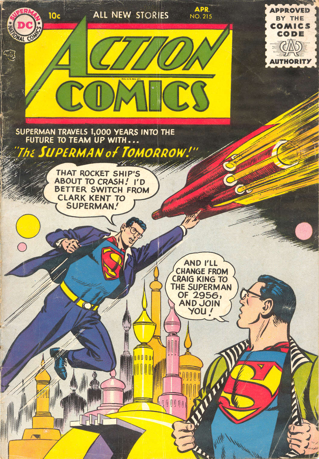 Read online Action Comics (1938) comic -  Issue #215 - 1