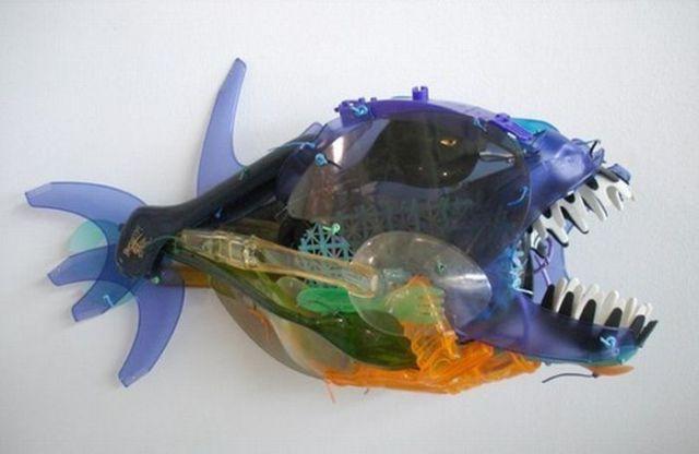 Ingeniosos proyectos de arte con material de reciclaje.