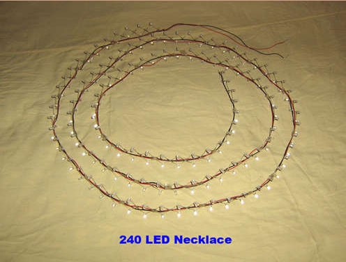 240 led necklace