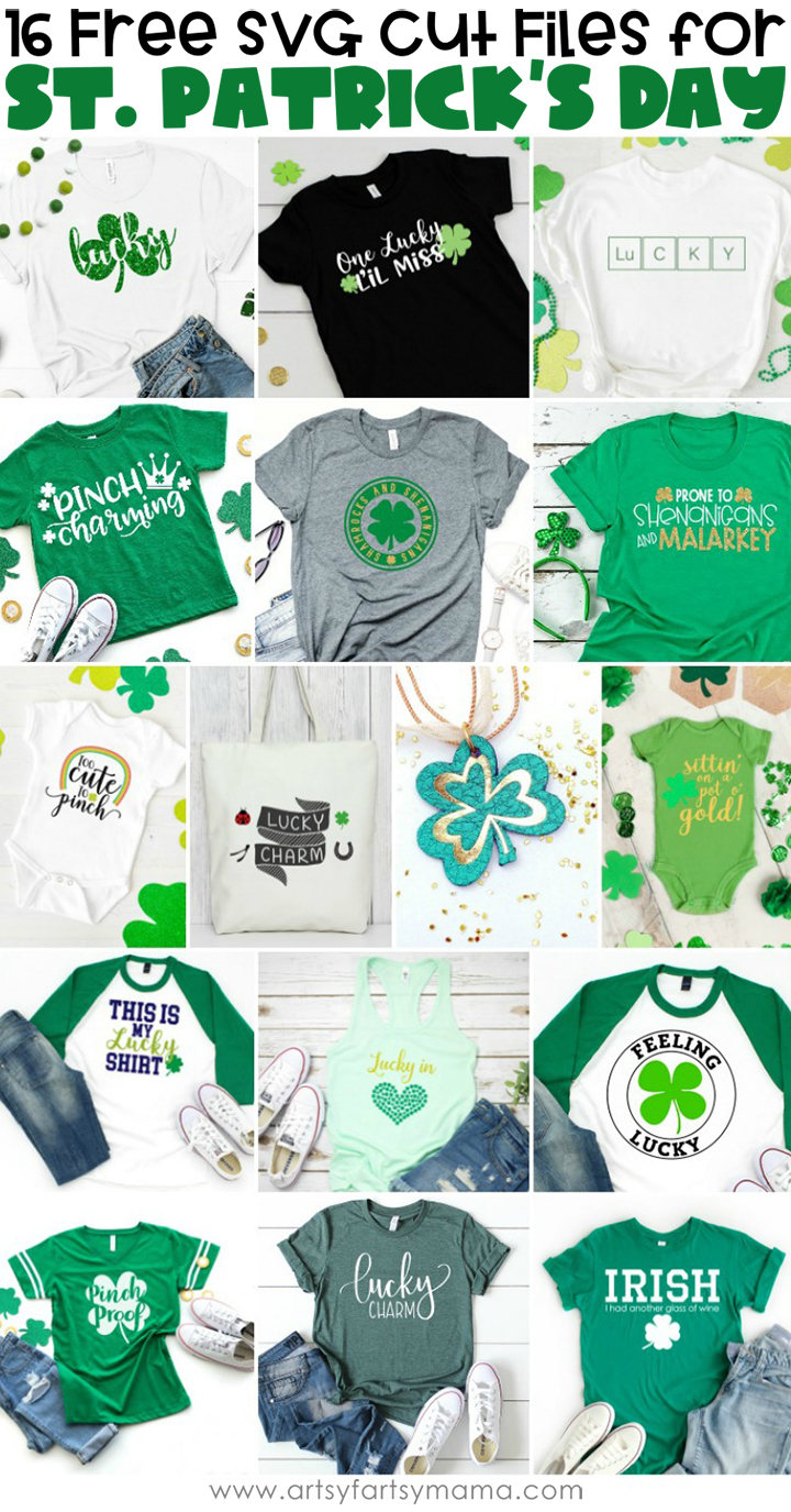 16 FREE SVG Cut Files for St. Patrick's Day