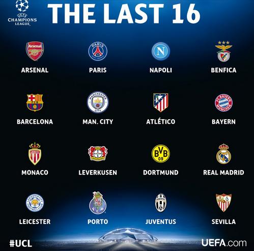 16 Tim yang lolos ke babak 16 besar