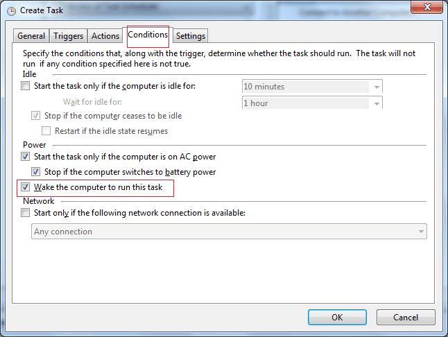 Hẹn giờ bật máy tính tự động bằng Windows Task Scheduler