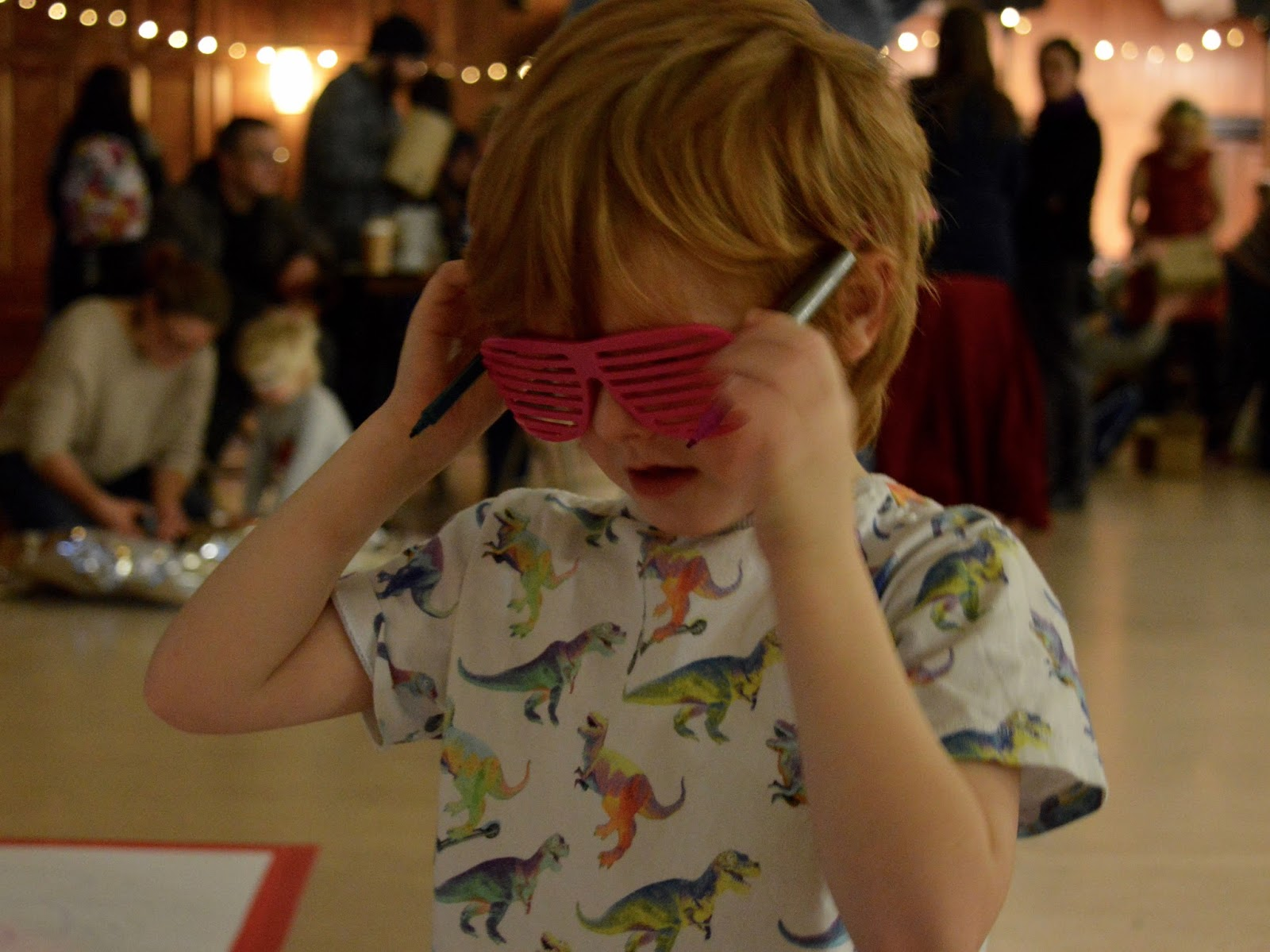 Discovery Museum Newcastle | Play + Invent Events | A Review | Sunglasses drawing