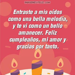 Imágenes feliz cumpleaños mi amor. Tarjetas con mensajes poéticos para tu novio marido o esposo para Facebook o Whatsapp