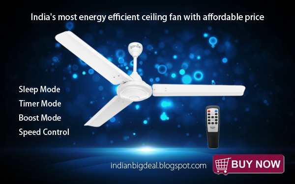 Indian Big Deal India S Most Energy Efficient Ceiling Fan With