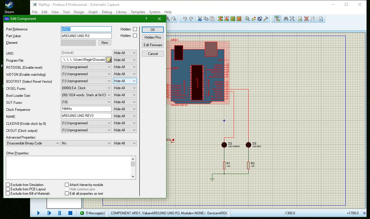 Membuat simulasi sketch arduino uno di proteus infoan kita