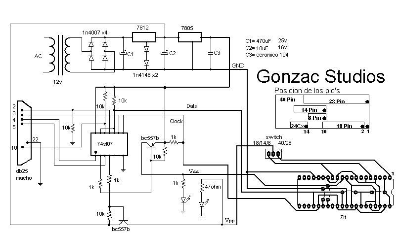 gonzac studios  ingenieria inversa a grabador de pic u0026 39 s