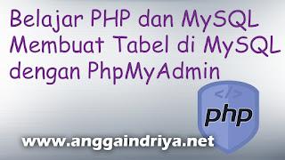 Belajar PHP dan MySQL Membuat Tabel Database di PhpMyAdmin