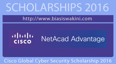 Cisco Global Cybersecurity Scholarship 2016