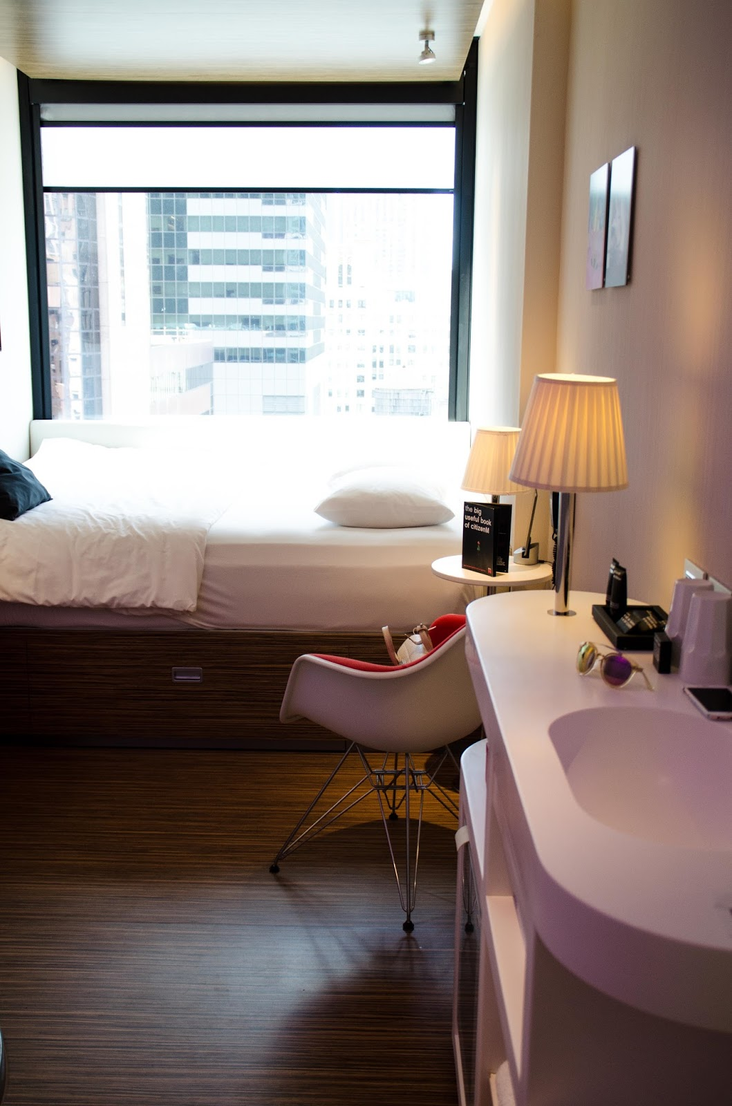 citizenm new york times square hotel room 15th floor